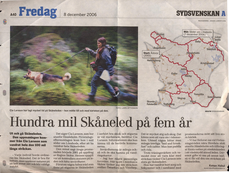 Även Sydsvenskan blev inspirerad på vandring.
