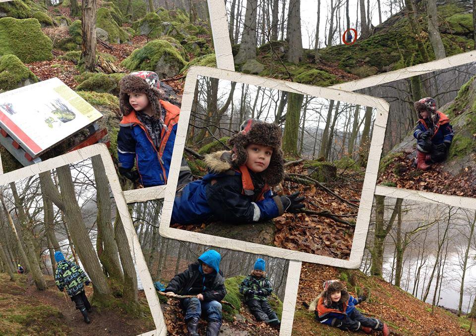 Med fika och kniv kan det bli ett flera timmar långt skogsäventyr, här i Hovdala naturområde.